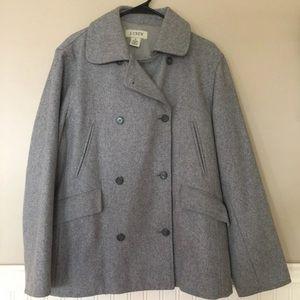J Crew Gray Wool Coat